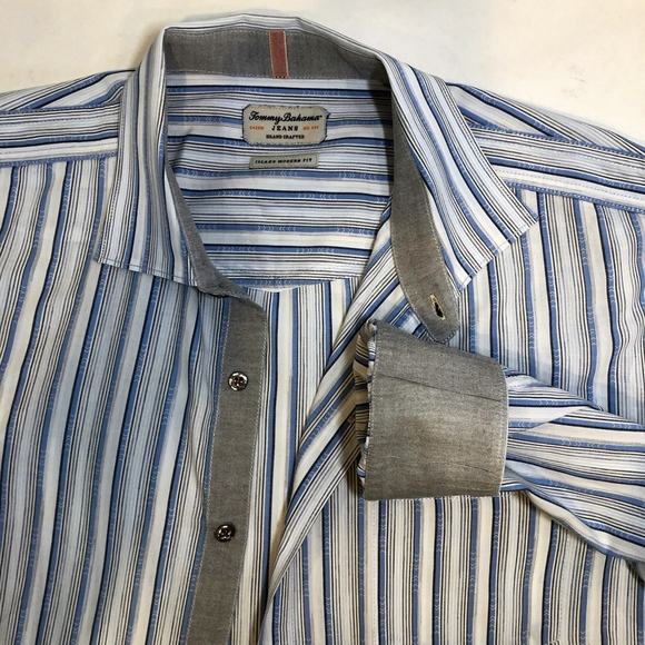 Tommy Bahama Other - Tommy Bahama- Island Crafted Stripe Button UP